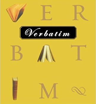 Back Issue – Verbatim