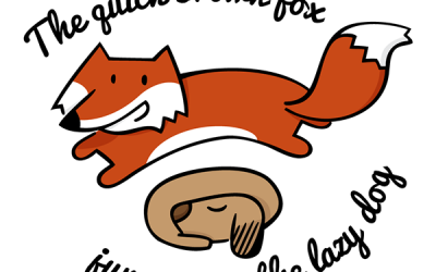 A Quick Fox Jumps over the Cwm Fjord-Bank Glyph Biz